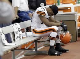 Dejected football player