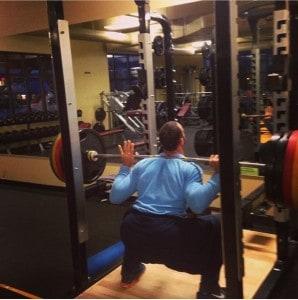 Gabe Kapler squatting