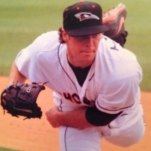 Matt Taylor pitching for the Frederick Keys